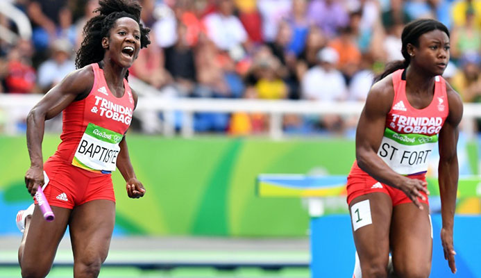 Trinidad and Tobago's women finished fifth in the 4x100m relay at Rio 2016 but a woman from the country still has to win an Olympic medal ©Getty Images