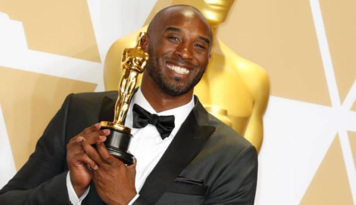 Kobe Bryant won an Oscar for best animated short film for Dear Basketball in 2018. Photograph: Paul Buck/EPA