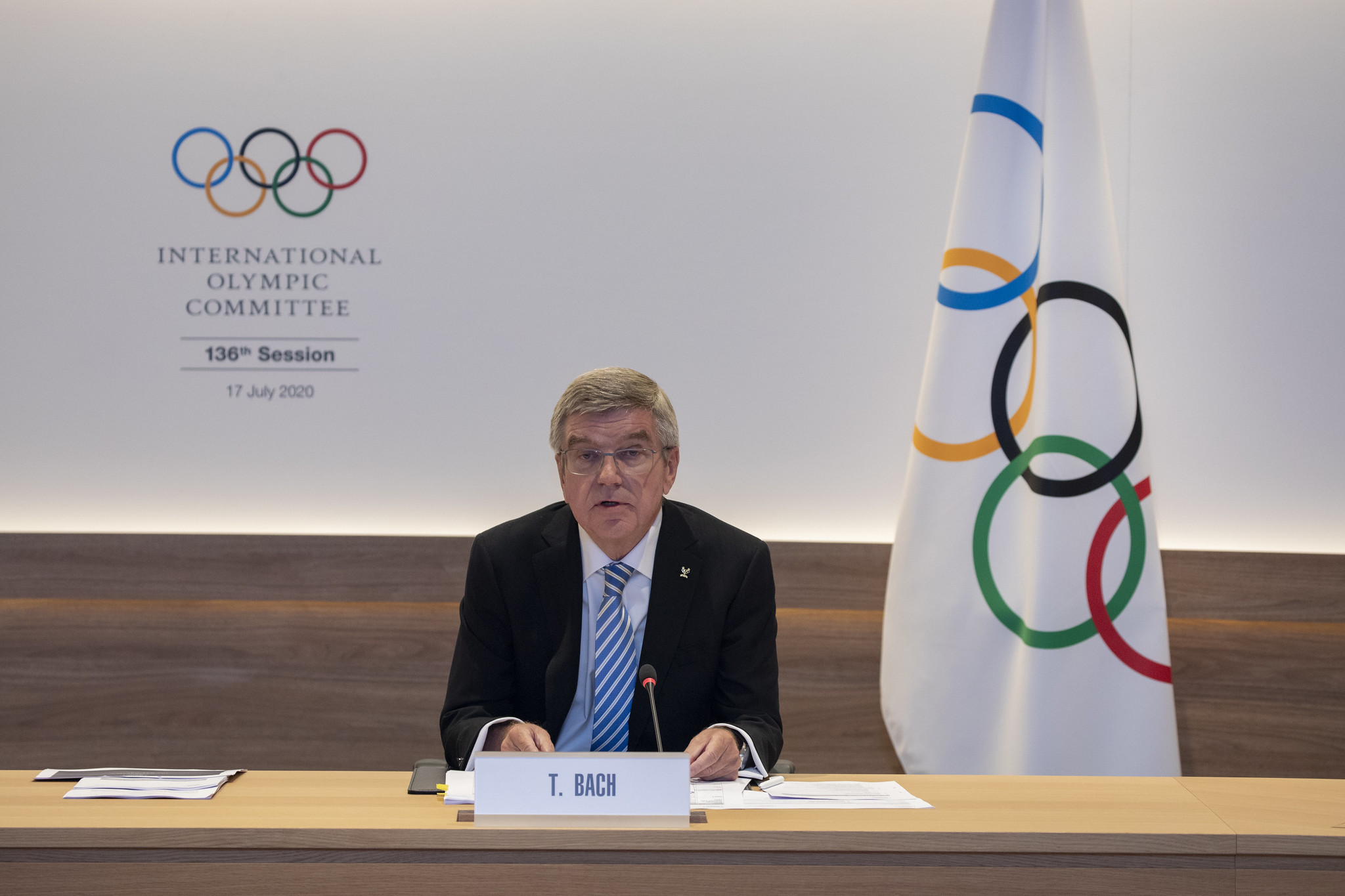 Thomas Bach is to seek re-election as President ©IOC