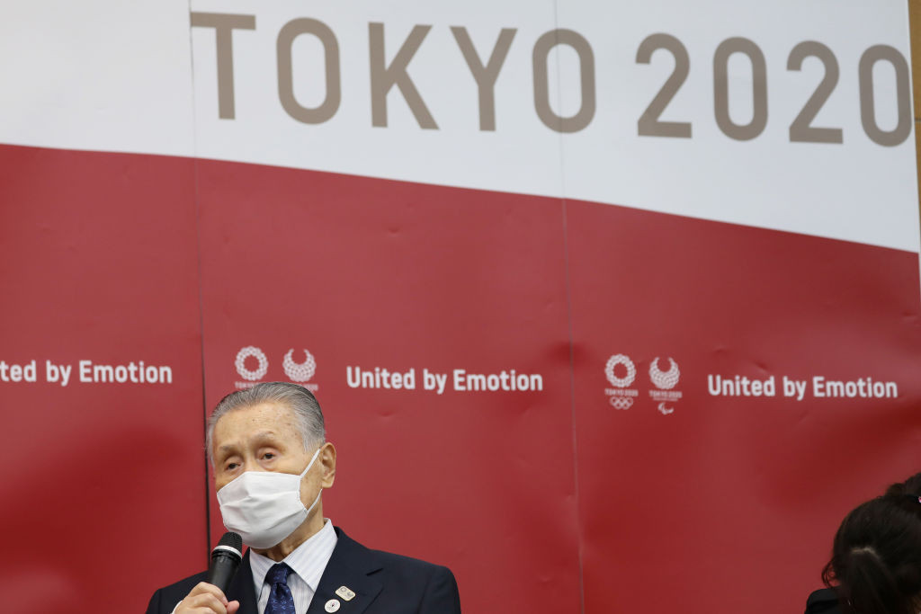 Tokyo 2020 President Yoshirō Mori also recorded a message for the Chefs de Mission ©Getty Images