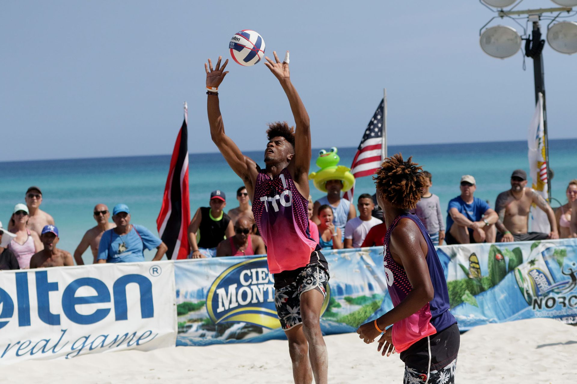 T&T beach volleyball duo, Daynte Stewart and Marlon Phillip