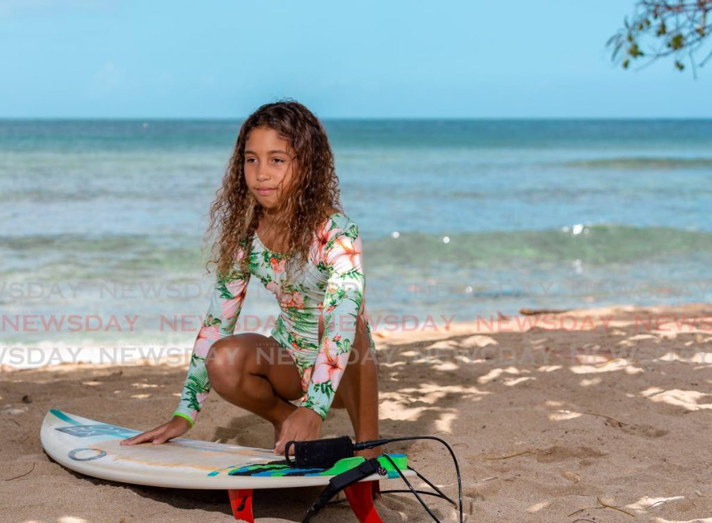 Cheyenne Patino-Ubeda has been training as a surfer since she was six. Photo by David Reid -
