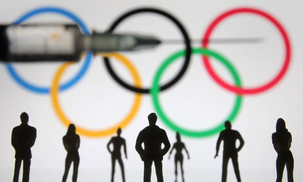 There have been calls for Olympic athletes to receive the coronavirus vaccine before the start of the delayed Tokyo Games. Photograph: Pavlo Gonchar/SOPA Images/REX/Shutterstock