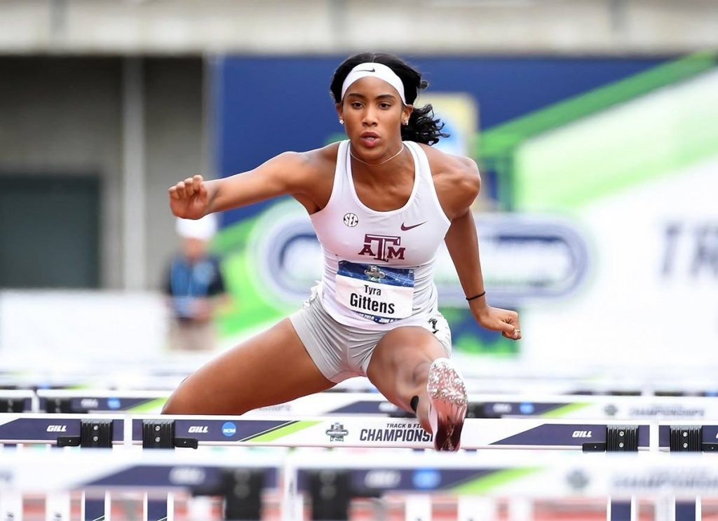 US-based TT track and field athlete Tyra Gittens. - courtesy Texas A&M University