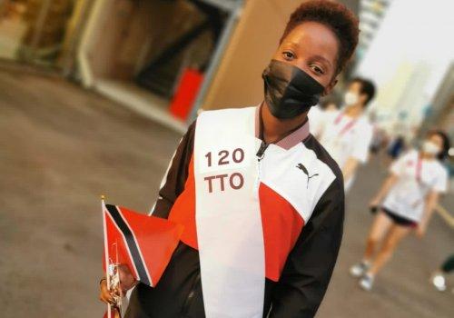 Kelly Ann Baptiste Team TTO TOKYO 2020 Opening Ceremony Flag-Bearer